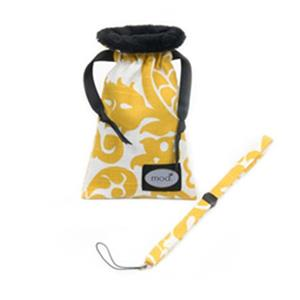 Mod Yellow and White Damask Compact Camera Pouch and Strap MOD499