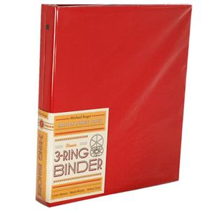 "Michael Roger Cherry Woven Cloth 3-Ring Binder (1"" Ring Capacity) 1401562922"
