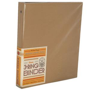 "Michael Roger Tan Woven Cloth 3-Ring Binder (1"" Ring Capacity) 1573786039"