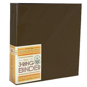 "Michael Roger Brown Woven Cloth 3-Ring Binder (2"" Ring Capacity) 1401572022"