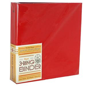 "Michael Roger Cherry Woven Cloth 3-Ring Binder (2"" Ring Capacity) 1401572081"