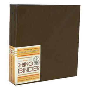 "Michael Roger Brown Woven Cloth 3-Ring Binder (3"" Ring Capacity) 1573789232"