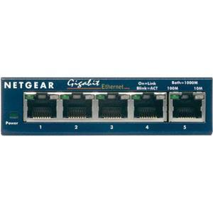 Netgear Prosafeport Gigabit Switch on Netgear Prosafe 5 Port Gigabit Ethernet Desktop Switch  Picture 1