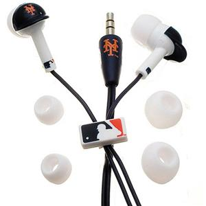 Ihip Digital MLB New York Mets Batting Helmet Style Earbuds MLF10114NYM