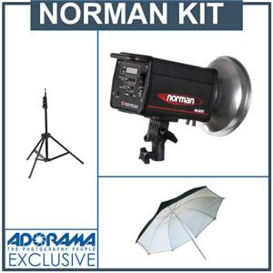 Norman ML-600 600 Watt Second Monolight Kit with Stand & Umbrella: Picture 1 regular