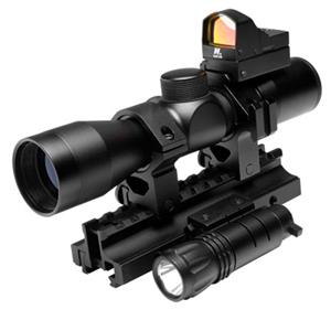 NcSTAR 4x 30mm Tactical Triple Threat Riflescope