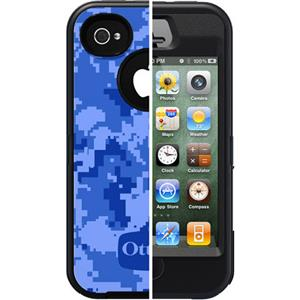 OtterBox Defender Case for Apple iPhone 4S - Ocean IMD Design (Black/Black): Picture 1 regular