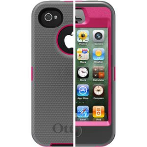 Otterbox Defender Case for i-Phone 4S - Pink/Gunmetal Grey: Picture 1 regular