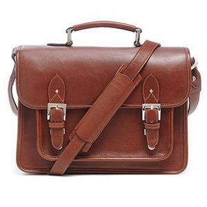 Ona Brooklyn Premium Leather Camera Satchel,Chestnut: Picture 1 regular