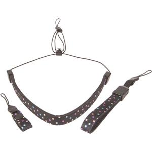 Op/Tech 3400241 Compact Strap Trio, Dots, Black: Picture 1 regular