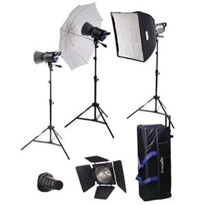 Interfit INT467 Stellar XD Umbrella/Softbox Kit 3 300W: Picture 1 regular