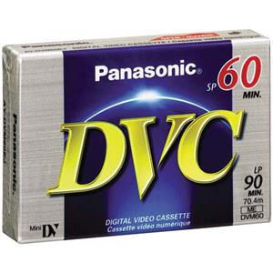 Panasonic AY-DVM60EJ 60 Minutes Mini DV Video Tape Cassette AY-DVM60EJ
