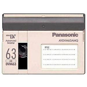 Panasonic AY-DVM63AMQ 63 / 42 Minute Master Quality Mini-DV Digital Tape. AYDVM63AMQ