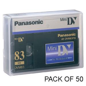 Panasonic AYDVM83PQ 83/55 Minute Professional Quality Mini-DV Digital Tape AYDVM83PQ50