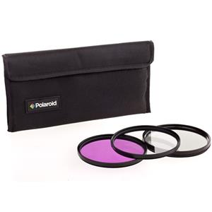 Polaroid 77mm 3 Piece Filter Kit (UV PL3FIL77