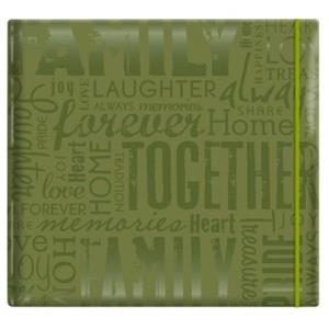 MBI Embossed Gloss Expressions 12x12in Scrapbook, Green: Picture 1 regular