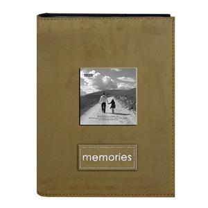 Pioneer Embroidered Patch Faux Suede Photo Album PTCH246 TAN