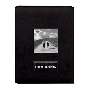 Pioneer Embroidered Patch Faux Suede Photo Album PTCH46 BLACK