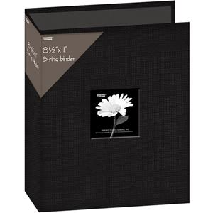 Pioneer 3 Ring Binder Frame Scrapbook, 8x12, Deep Black: Picture 1 regular