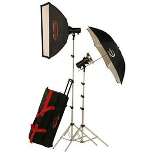 Photogenic AKC645K Mobile Studio 2 Light Soft Box Kit 900105 A