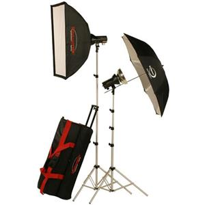 Photogenic AKC645RK Mobile Studio 2 Light Soft Box Kit 900110