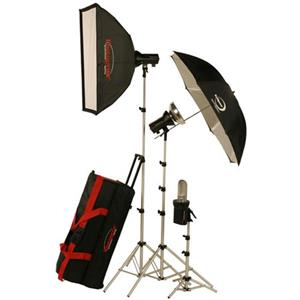 Photogenic AKC850K 800 WS Portrait Studio 3 Light Soft Box Kit 900125