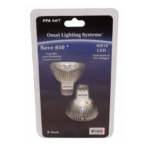 PPA MR16PW3W3 International Omni Lighting, Pure White: Picture 1 regular