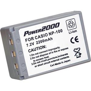 Power2000 NP-100C Replacement Lithium-Ion Rechargeable Battery 7.2v 2200mAh ACD-290
