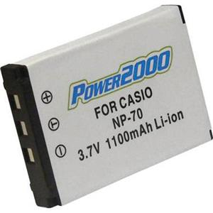 Power2000 NP-70 Replacement Lithium-Ion Rechargeable Battery 3.7v 1100mAh ACD-293