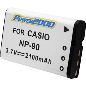 Power2000 NP-90 Replacement Lithium-Ion Rechargeable Battery 3.7v 1100mAh ACD-307