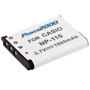 Power2000 NP-110 Replacement Lithium-Ion Rechargeable Battery 3.7v 1000mAh ACD-316