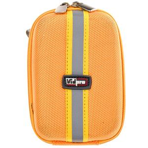 "VidPro ACT-5 Hard Shell Digital Point-n-Shoot Camera Carry Case ""Orange"" ACT5OR"