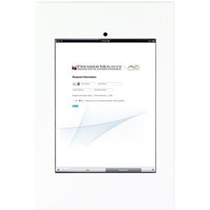 Premier Mounts IPM-720W Secure iPad Mounting Frame with Camera Access, White: Picture 1 regular