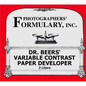 Photographers' Formulary Dr Beer's Variable Contrast Paper Developer 2 Liters Makes 4-6 Liters 020120