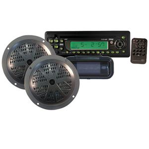 Pyle PLCD14MRKT Waterproof Marine CD/MP3 Player Receiver PLCD14MRKT