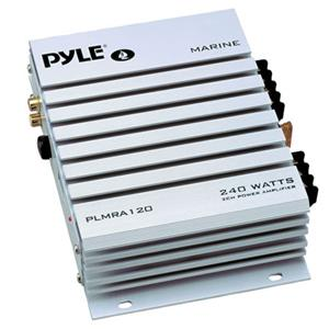 Pyle PLMRA120 2 Channel 240 Watts Waterproof Marine Amplifier PLMRA120
