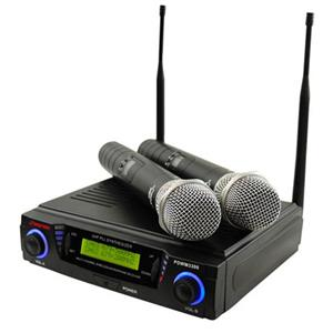 Pyle PDWM3300 Professional UHF Dual Channel Wireless Microphone System PDWM3300