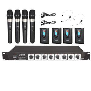 Pyle PDWM8700 Rack Mount 8 Channel Wireless Microphone System PDWM8700