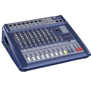 Pyle PMX808 8 Channel 600 Watts Digital Powered Stereo Mixer with DSP: Picture 1 regular