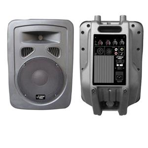 "Pyle PPHP1098A 10"" 600 W 2-Way Plastic Molded Powered PA Speaker System PPHP1098A"