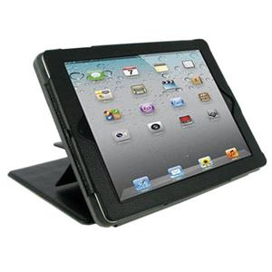 rooCASE Convertible Leather Case Cover for iPad 2 / iPad 3, Black: Picture 1 regular