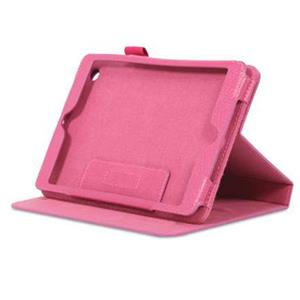rooCASE Dual-View Leather Case Cover for iPad Mini, Magenta: Picture 1 regular