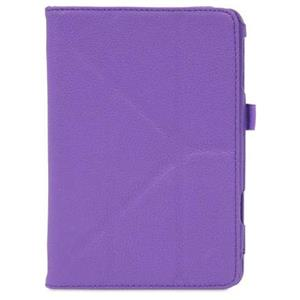 rooCASE Origami Dual-View Vegan Leather Case Cover for iPad Mini, Purple: Picture 1 regular