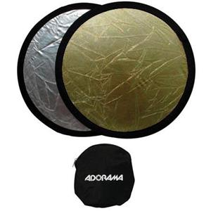 "Adorama 12"" Portable Reflector Gold / Super Silver CFR12G"