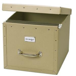 Resource International 7060912 Dual File Box, Khaki: Picture 1 regular