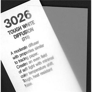 Rosco 3026 Cegel Tough White Diffusion, 20x24 Sheet: Picture 1 regular