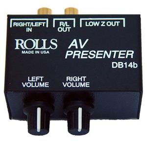 Rolls DB14B A/V Presenter Stereo Direct Box/Signal Separator DB14B