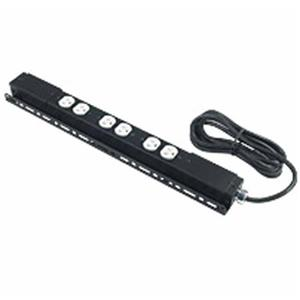 Raxxess Low Profile 3 Duplex 15A, 120V Power Strip with 2 Circuits: Picture 1 regular