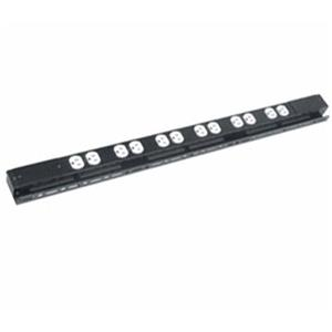 Raxxess Low Profile 6 Duplex 20A, 120V Power Strip with 3 Circuits: Picture 1 regular