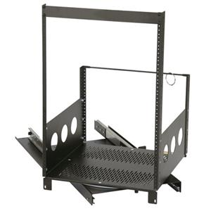 Raxxess 16U Pull-Out and Rotating Rack ROTR-16